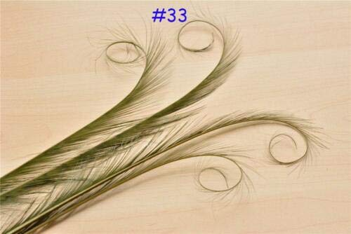 FidgetFidget Burnt Curled Eyelash Aritifical Feather Pheasant Tails DIY Millinery Fascinator Hats 1 PCOlive #33