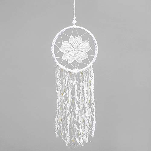 (Dreamcatcher Silver Pendant Pure Handicraft Gift Natural Color Stone)