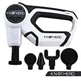 Knot Hero - Massage Gun - Chiropractic Massager with Multiple Heads - Trigger Point Massager - Jigsaw Massager - Portable, Rechargeable Massage Device with Variable Speeds