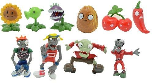 Plants Vs Zombies Mini Figures Set of 10 Pieces Set A