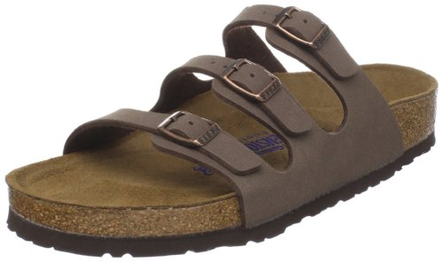 Birkenstock Women's Florida Soft Footbed Mocha Birkibuc Sandal 36 R (US Women's - Latex Straps Box Leg