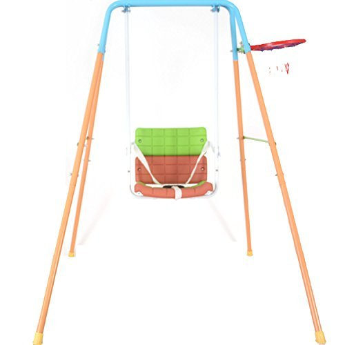 Secure Swing Playset Teenager Toddler for Yard Outdoor Indoor with Basketball
