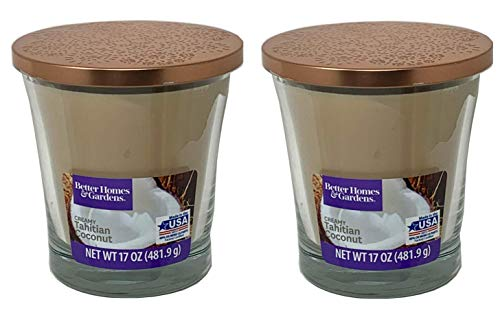 Better Homes Gardens 17oz Scented Candle, Creamy Tahitian Coconut 2-Pack reviews