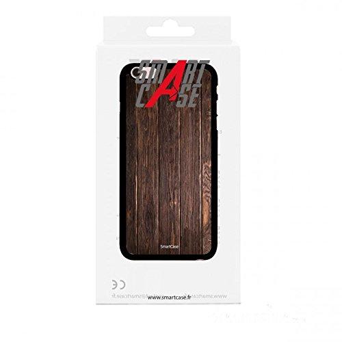 Coque + Verre Trempé pour iPhone 6/6S SmartCase® Motif bois foncé