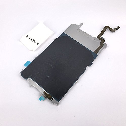 Screen Back Classic Metal Plate with Heat Shield / Home Button Flex Cable Preinstalled Replacment Part for Iphone 6 Plus (Back Lcd)