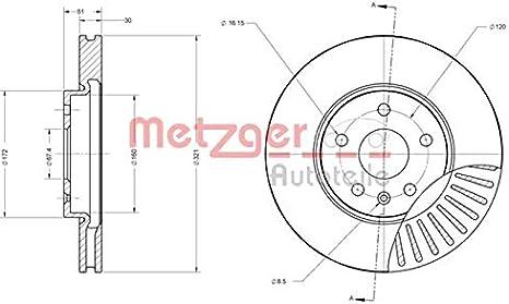 Metzger Bremsbel/äge Bremskl/ötze Bremsenset Bremsenkit Komplettset Vorderachse Bremsenreiniger Original Metzger Bremsscheiben vorne