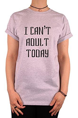 "TheProudLondon I can't adult today"" Unisex T-shirt (XLarge, Heather Grey)"