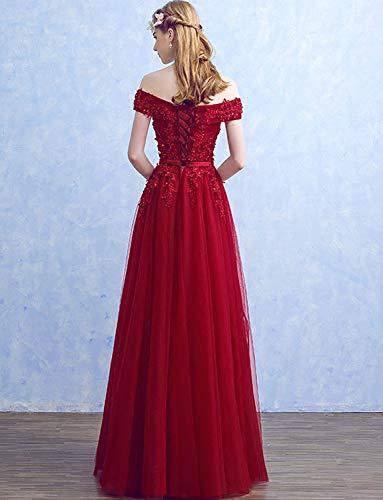 Abend Lange Brautjunfer Abschlussball Damen Tüll Formale Erröten 2018 Kleider Izanoy Kleider x50Zqfqw