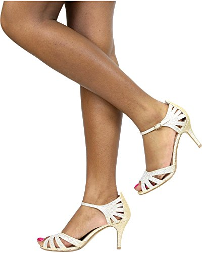 City Classifed Mujeres Shine Dressy Heel (disponible En 2 Colores) Gold