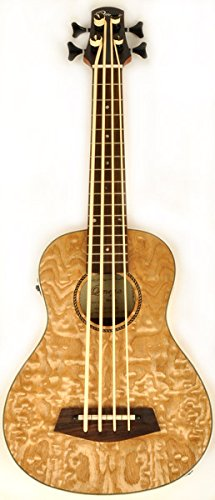 Hadean Acoustic Electric Bass Ukulele UKB-27 Quilted Maple by Hadean