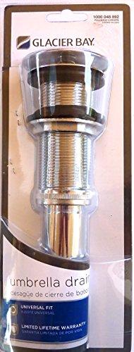 California Faucets Umbrella Drain - Glacier Bay 2-1/2 in. Brass Decorative Umbrella Drain in Chrome