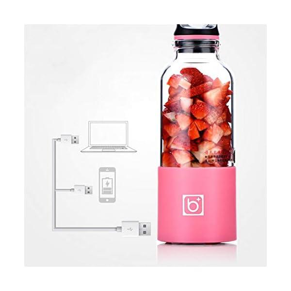 AMTSKR Spremiagrumi Elettrico Portatile Tazza Frullatore Multifunzionale Bottiglia Usb Ricaricabile Spremere Frutta… 5 spesavip