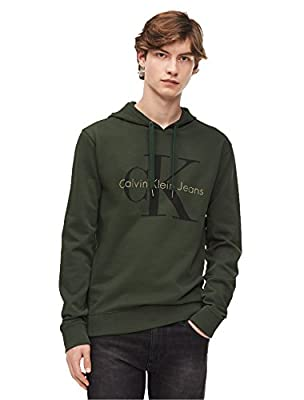 Calvin Klein Jeans Men's Monogram Logo Hooded Sweatshirt