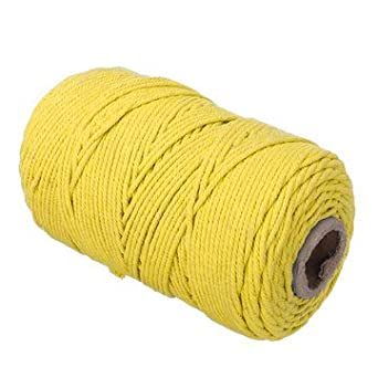 TuToy 200M 3Mm 100% Algodón Natural Cordón Trenzado Manualidades ...