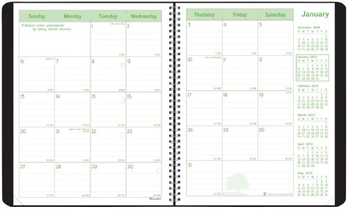 (Brownline 2010 EcoLogix Monthly Planner, 14 Months, Twin-Wire, Black, 11 x 8.5 Inches (CB435W.BLK) )