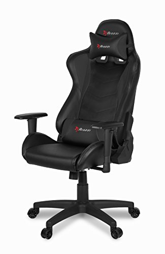 Arozzi Forte Racing Style Gaming Chair with High Backrest, Recliner, Swivel, Tilt, Rocker & Seat Height Adjustment, Lumbar & Headrest Pillows Included - Black Uncategorized