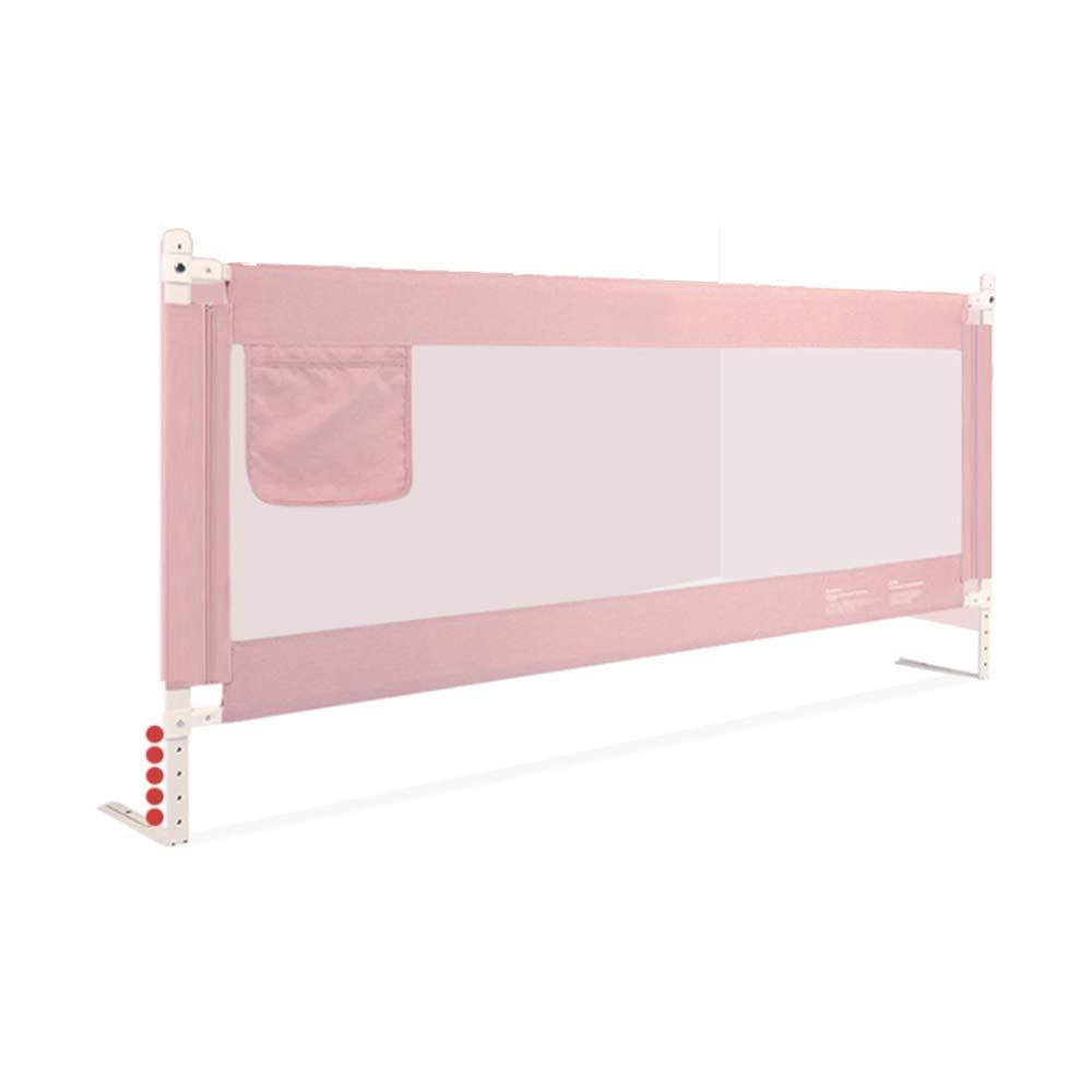 LHA ベッドガードフェンス 子供用ガードレールアンチフォールズベッドサイドバッフル-150cm、180cm、200cm、220cm (色 : Pink, サイズ さいず : L-220cm) L-220cm Pink B07L4BJXHT