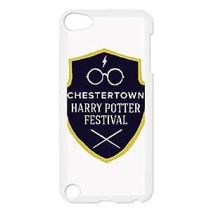 HARRY POTTER LOGO (1) para el funda iPod Touch 5 funda caso de la cubierta blanca