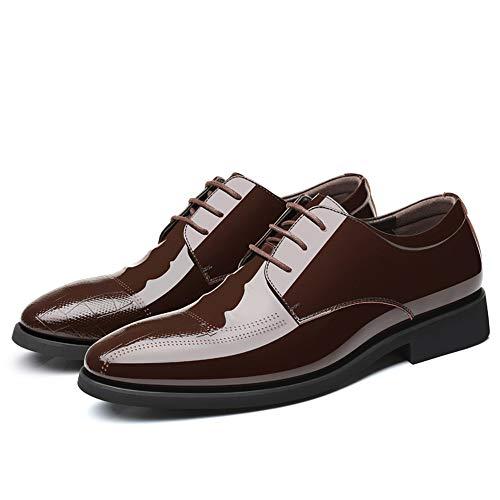 Fang casual Color casual lavoro pelle stile EU piede in da Dimensione Nero da Oxford uomo Lace 41 stile shoes Brown Scarpe Estate e Primavera 2018 stile rYwqr0HZ