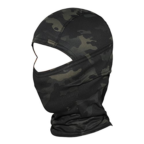 JIUSY Camouflage Balaclava Hood Ninja Outdoor Cycling Motorcycle Hunting Military Tactical Helmet liner Gear Full Face Mask SP-01