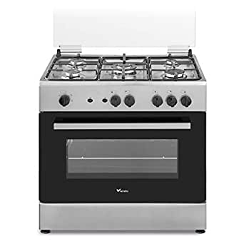 Veneto 80 X 55 cm 5 Gas Burners, Free standing Gas cooker, Stainless Steel - C3X85G5VC.VN