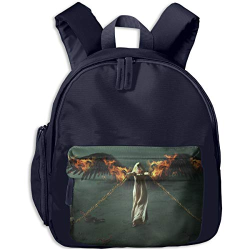 Fantasy Halloween Fallen Angel Girl Bounded By Chains Children Backpack Pocket Zipper Outdoor Travel School Book Bag ()