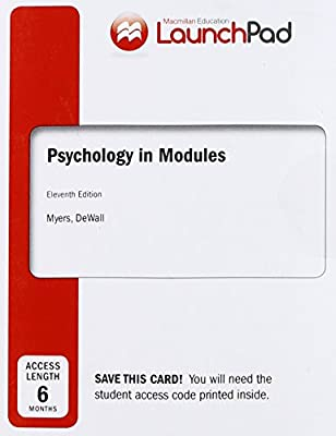 Amazon Com Launchpad For Myers Psychology In Modules Six Month