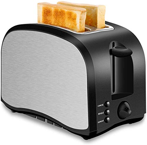 ykw 2 Slice Toaster with 6 Browning Settings Quickly Toasts Bread Defrost Reheat Cancel Button