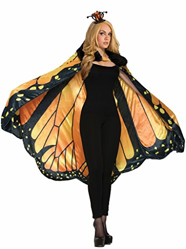 Forum Women's Monarch Butterfly Cape Adult Costume, as Shown, Standard -