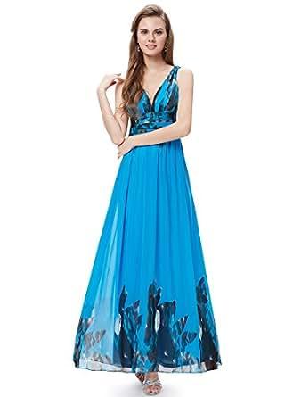 HE09641BL06, Multiple(blue), 4US, Ever Pretty Long Fall Dresses 09641