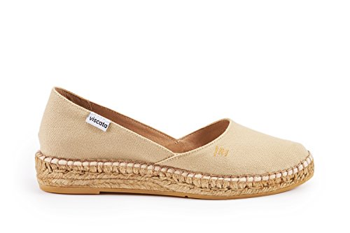 VISCATA Rascassa Authentic and Original Flats with Innersole Cushion Hand Made in Spain Beige 100% authentic limited edition for sale itemXdjLb