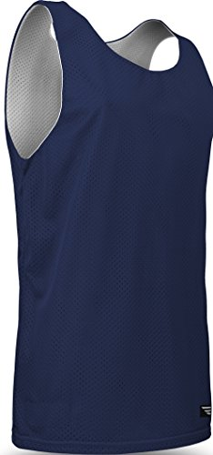 Game Gear Reversible Workout Jersey, Basketball/Gym Tank Top for Men and Boys AP-993 Navy/White