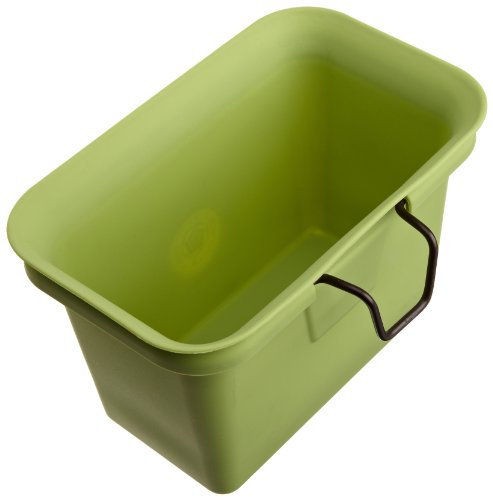 Full Circle Scrap Happy Food Scrap Collector and Freezer Compost Bin, Green - Compost Plastic Composter