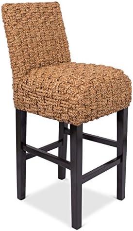 BIRDROCK HOME Checkered Weave Seagrass Barstool
