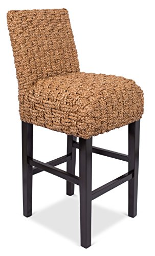 BirdRock Home Checkered Weave Seagrass Barstool | Hand-Woven | Dark Brown Mahogany Wood Legs | Kitchen Bar Height | Fully Assembled (Style Bar Stools Wicker)