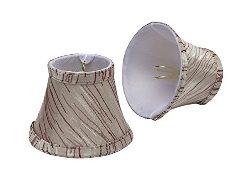 Aspen creative lamp shades 30006 2 small bell shape chandelier clip on lamp set ebay - Creative lamp shades ...
