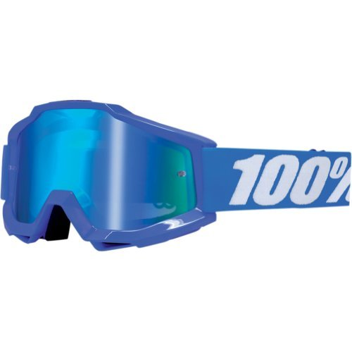 100% Accuri Men's Dirt Bike Motorcycle Goggles Eyewear - Blue/Reflex Blue/Mirror Blue / One Size