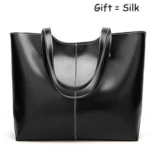 Large Capacity Womens Purses and Handbags PU Leather Shoulder Bag Ladies Designer Tote Top Handle Satchel Handbags, QUEENTOO(A-Black)