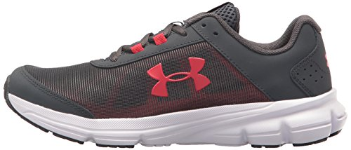 Under Armour Kids' Grade School Rave 2 Sneaker,Stealth Gray (100)/White,3.5 M US by Under Armour (Image #5)