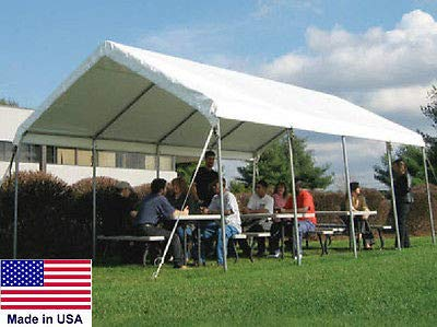 Commercial Duty Tubing Canopy - Canopy Commercial - 14 W x 20 L x 10 Ft 6 In H - Coml Duty 14 Gauge Steel Tubing