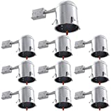 Sunco Lighting 10 Pack 6 Inch Remodel Housing, Air Tight IC Rated Aluminum Can, 120-277V, TP24 Connector Included for Easy Install - UL & Title 24 Compliant