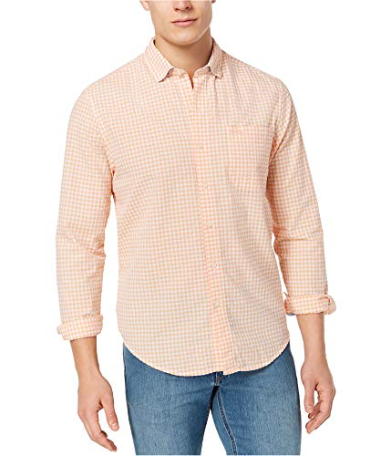Tommy Bahama Long Sleeve Seersucker Key Largo Check Camp Shirt (Color: Shellrosa, Size XXL)