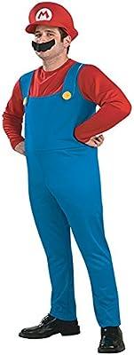 chiber Disfraces Disfraz de Super Mario para Adulto. Talla Única ...