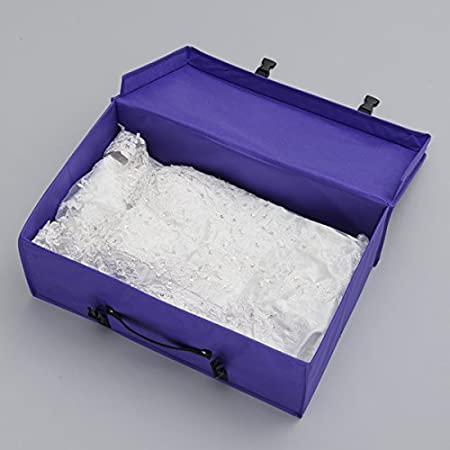 Gowns Foster-Stephens Carry on Travel Wedding Dress Garment Box Purple Foldable Bridal Storage and Collapsable Travel Box Formal Wear Dresses
