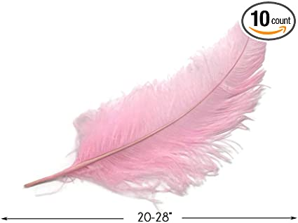 "20-28/"" Light Pink Ostrich Spads Large Wing Feather Centerpiece Party 10 Pieces"