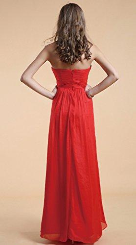 46 Vimans Mujer Rojo Para Trapecio Vestido Rosso PYqwAY4x