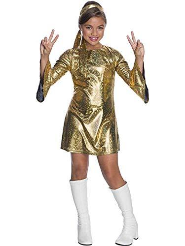 Charades Little Girl's Hologram Disco Diva Childrens Costume, as Shown, Large]()