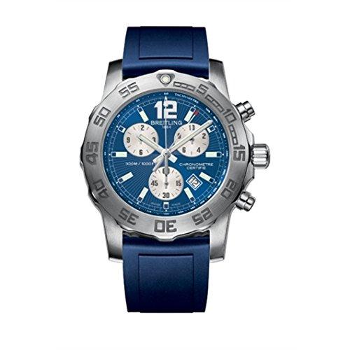 Breitling A7338710C848145S - Reloj de cuarzo para hombre, con correa de goma, color azul