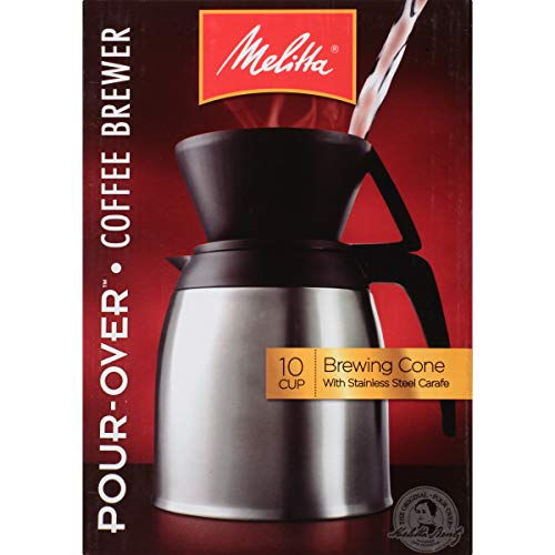 - Melitta (64104) Pour-Over 10 Cup Coffee Brewer w/Stainless Steel Thermal Carafe