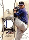 2014 Topps Tier One Relics #TOR-JCH Jhoulys Chacin Game Worn Jersey Baseball Card - Only 299 made! - Near Mint to Mint